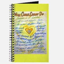 Blue & Gold Heart Cancer Journal