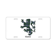 Lion - Gunn Aluminum License Plate