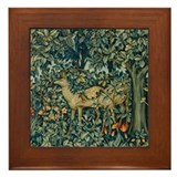 William morris tiles with deer Framed Tiles