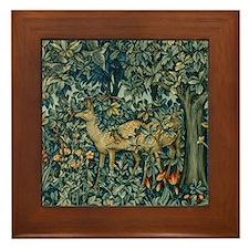 William Morris Greenery Framed Tile