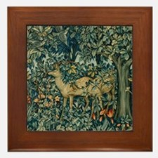William Morris Greenery Framed Tile