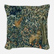 William Morris Greenery Woven Throw Pillow