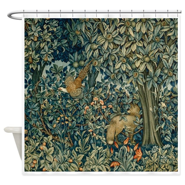 William Morris Greenery Shower Curtain By FineArtDesigns
