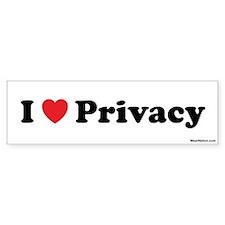 I love Privacy Bumper Bumper Sticker