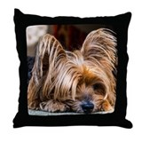 Yorkshire terrier Throw Pillows