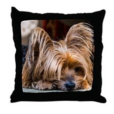 Yorkshire Terrier Dog Small Cute Pet Throw Pillow