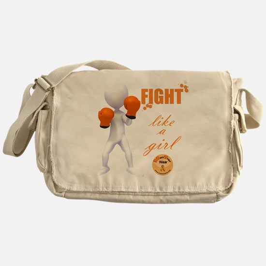 Fight MS Like a Girl by marbles4ms Messenger Bag