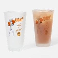 Fight MS Like a Girl by marbles4ms Drinking Glass