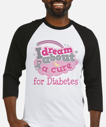 DIABETES Cure Baseball Jersey