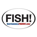Fish! Sticker (oval)