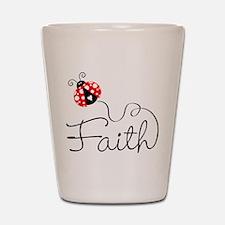 Ladybug Faith Shot Glass