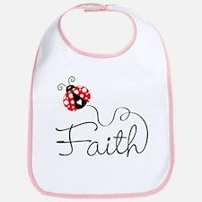 Ladybug Faith Bib