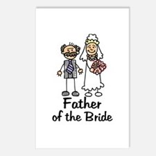 Cartoon Bride's Father Postcards (Package of 8)