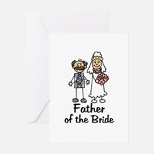 Cartoon Bride's Father Greeting Cards (Package of