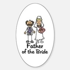 Cartoon Bride's Father Oval Decal