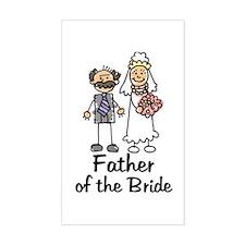 Cartoon Bride's Father Rectangle Decal