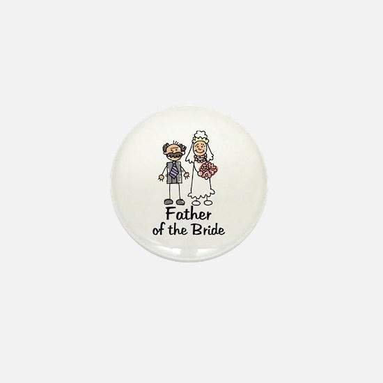 Cartoon Bride's Father Mini Button