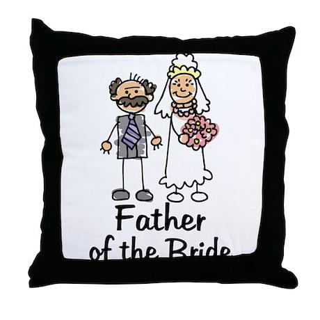 Cartoon Bride's Father Throw Pillow