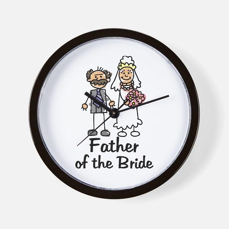 Cartoon Bride's Father Wall Clock