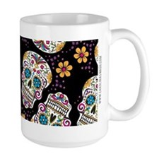Day of The Dead Sugar Skull, BLACK Mug