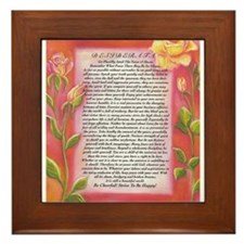 desiderata poster on watercolor yellow roses Frame