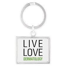 Live Love Dermatology Landscape Keychain