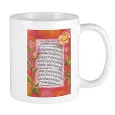 desiderata poster on watercolor yellow roses Mugs