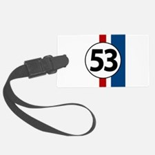 53 red and blue stripe Luggage Tag
