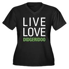 Live Love Di Women's Plus Size V-Neck Dark T-Shirt