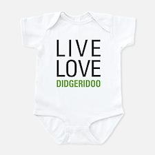 Live Love Didgeridoo Infant Bodysuit