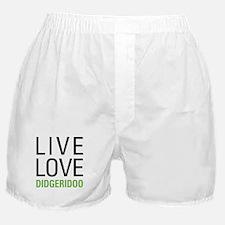 Live Love Didgeridoo Boxer Shorts