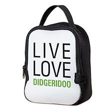 Live Love Didgeridoo Neoprene Lunch Bag