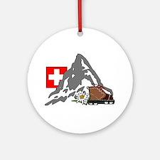 Alpine Hike Ornament (Round)