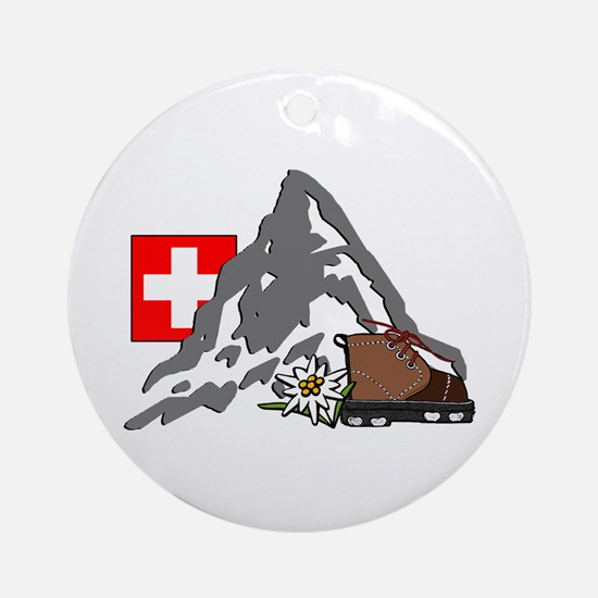 Alpine Hike Ornament (Round)