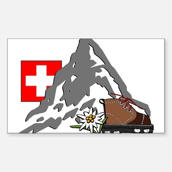 Alpine Hike Rectangle Decal