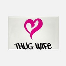 Thug Wife Rectangle Magnet