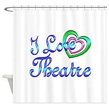 I Love Theatre Shower Curtain
