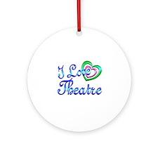 I Love Theatre Ornament (Round)
