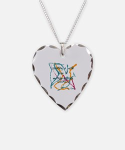 Marble painting by Marbles4ms Necklace Heart Charm