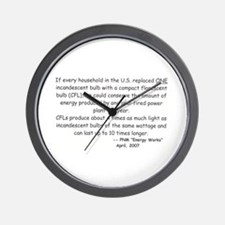 If every household... Wall Clock