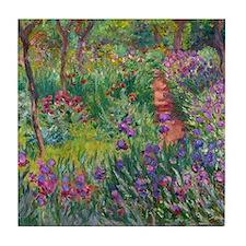 Monet Iris Garden Giverny Tile Coaster