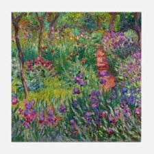 Monet Iris Garden Giverny Tile Coaster