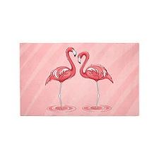 Pink Flamingos 3'x5' Area Rug