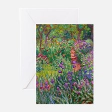 Monet Iris Garden at Giverny Greeting Cards