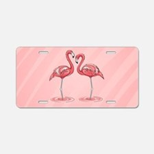 Pink Flamingos Aluminum License Plate