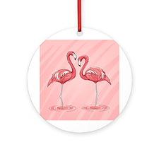 Pink Flamingos Ornament (Round)