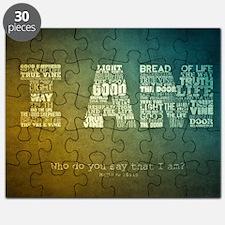 I AM Word Art Puzzle