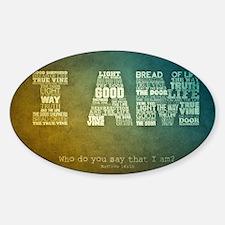 I AM Word Art Sticker (Oval)