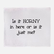 Is it Horny in here? Throw Blanket