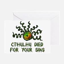 Cthulhu Died Greeting Card